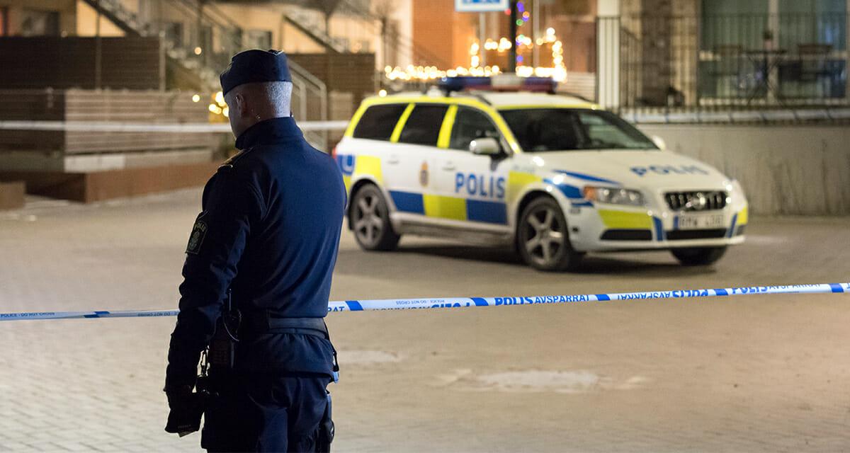 polis, misshandel, skövde