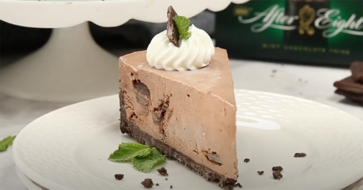 after eight, cheesecake